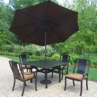 Patio Dining Sets With Umbrella - Bestsciaticatreatments.com