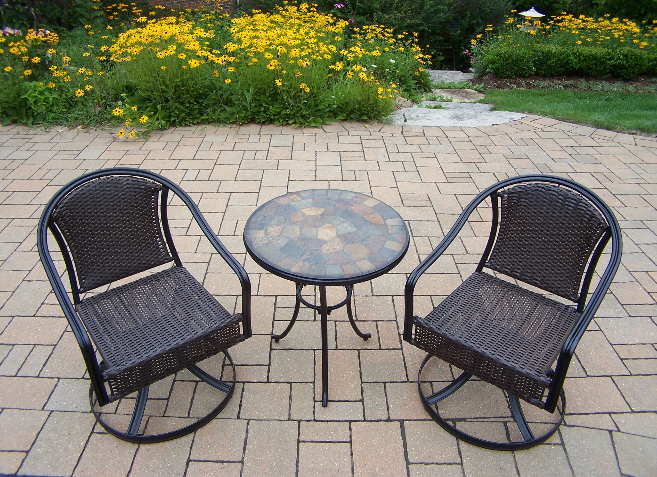 Oakland Living Stone Art 3 Pc. Bistro Set With 24- Table