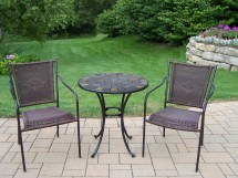 3 Pc Bistro Wicker Set