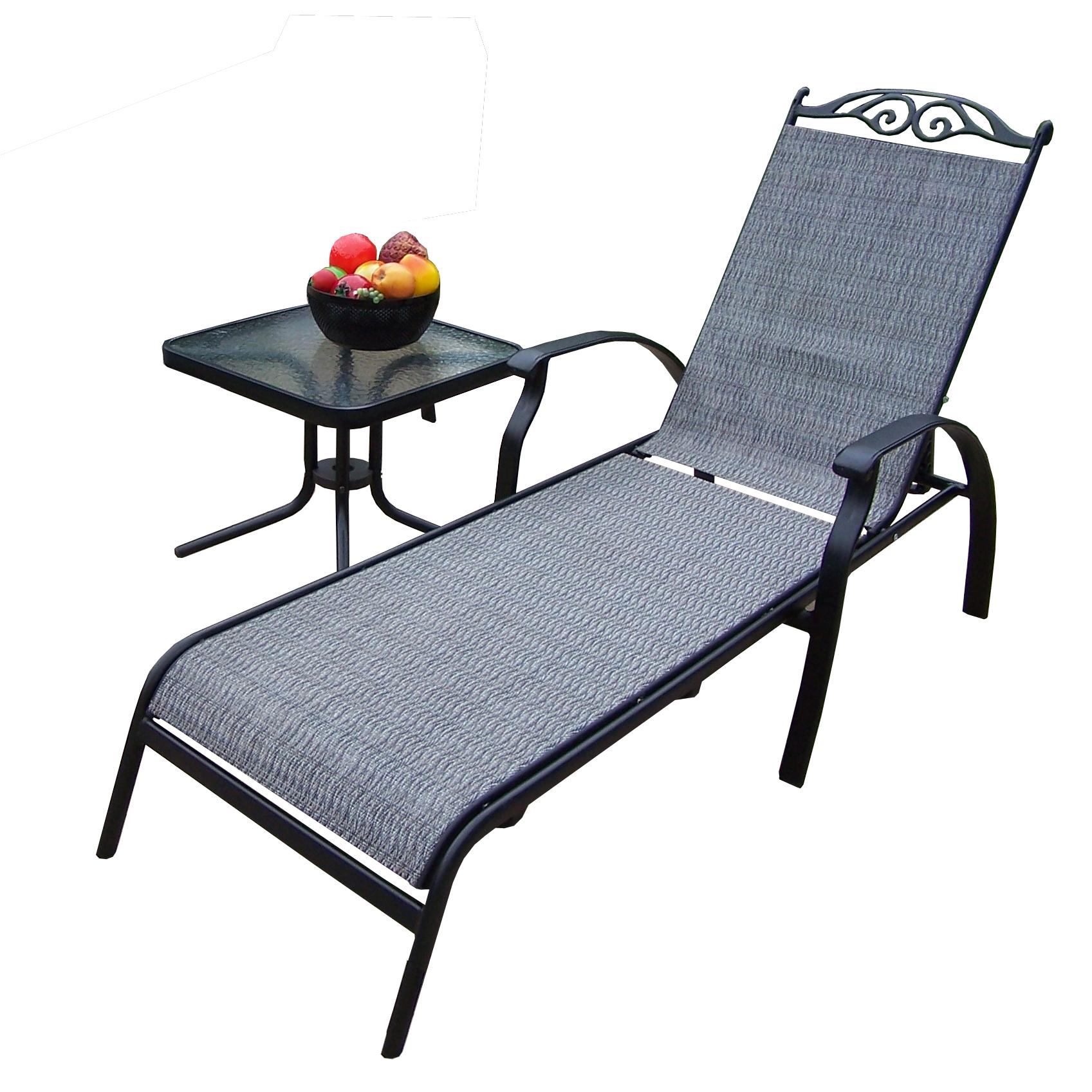 sling chaise lounge chair design for bedroom oakland living aluminum framed set w