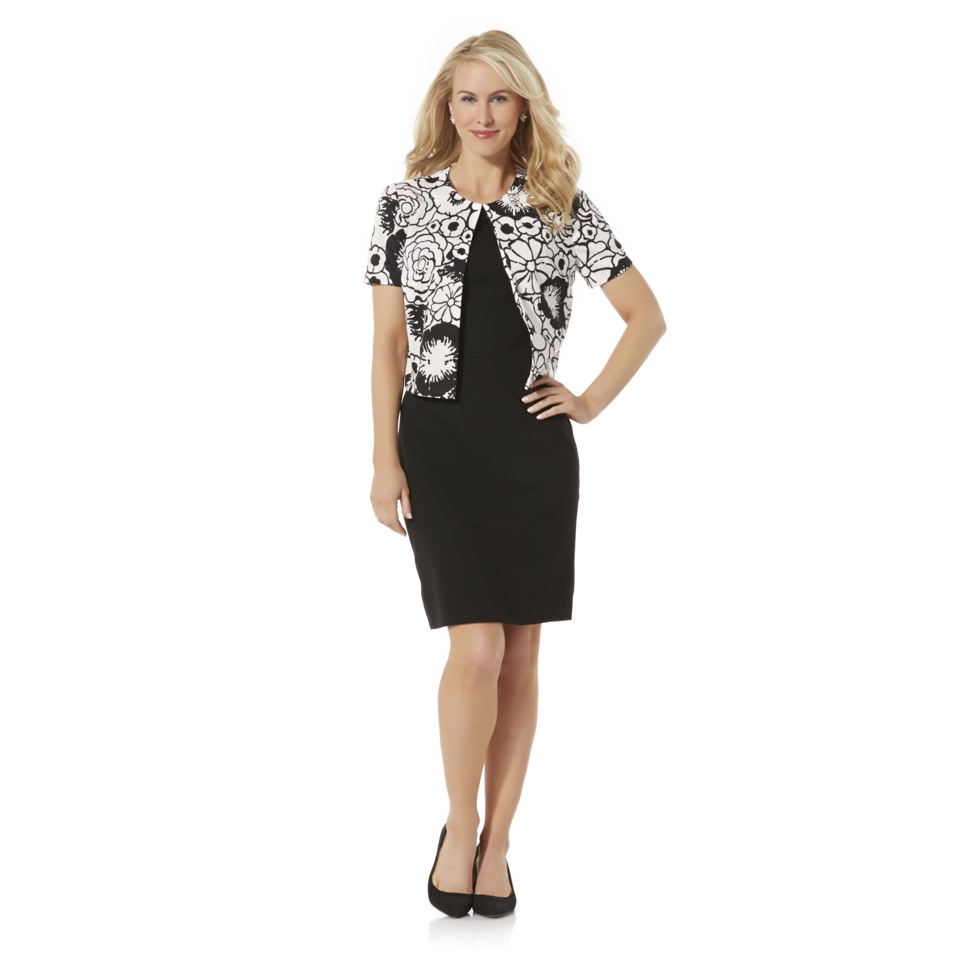 Covington Women39s Dress Jacket Floral Print