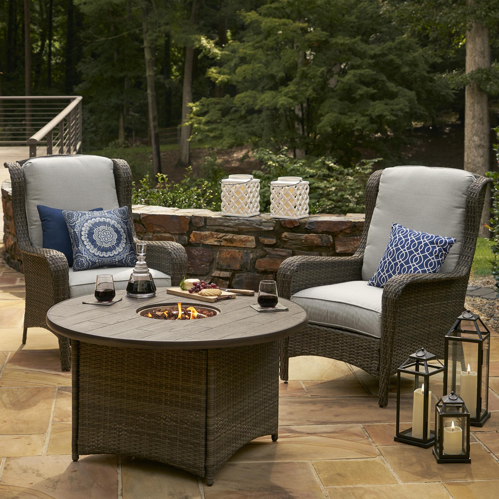 Grand Resort Monterey 2-piece Wicker Chair Set - Gray
