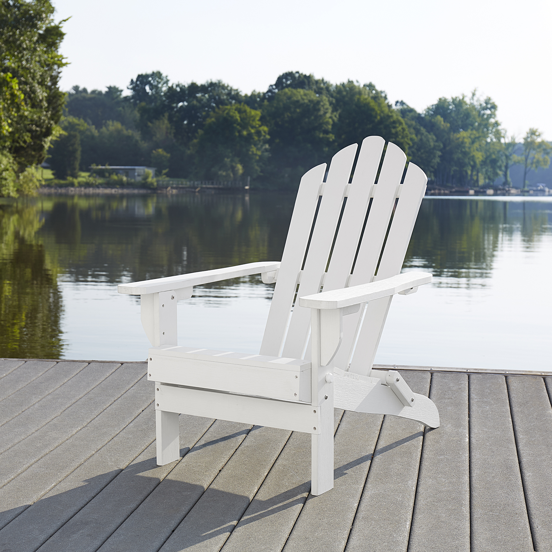 Garden Oasis Faux Wood Adirondack Chair-white Limited