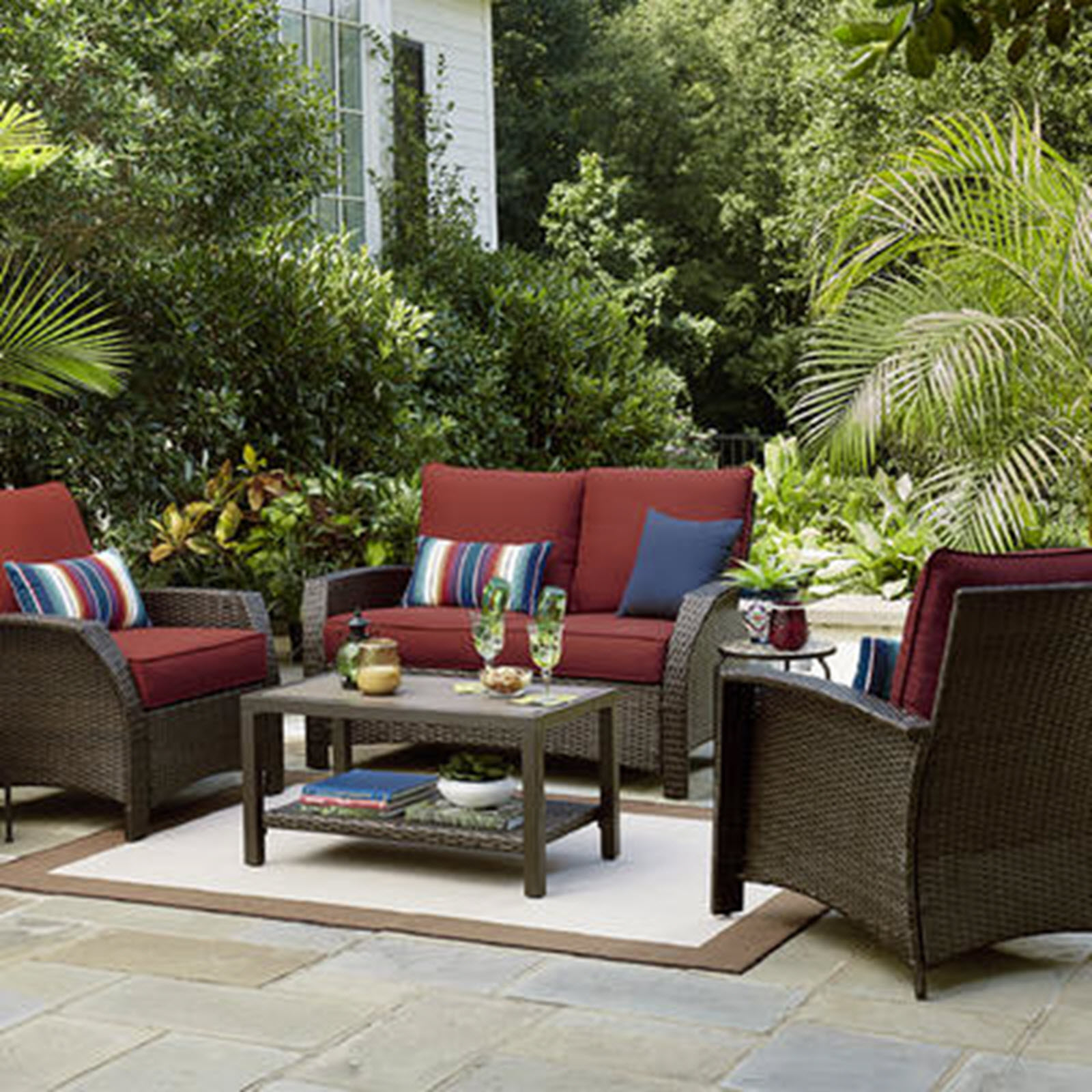 Sutton Rowe Williamsport 4 Pc. Wicker Seating Set