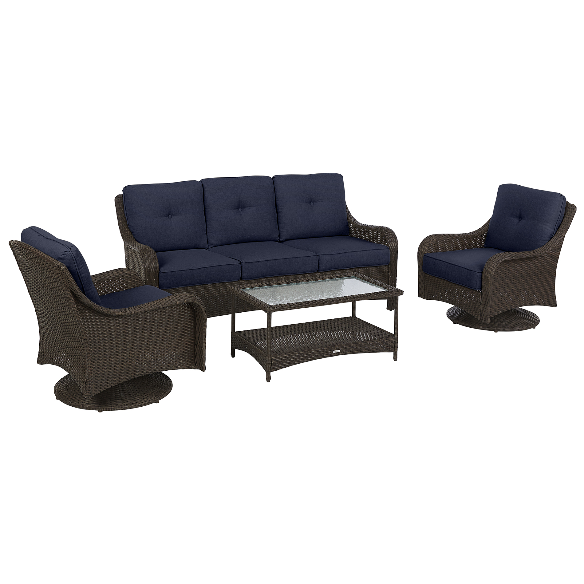 Grand Resort Summerfield 4pc. Seating With Swivel - Blue