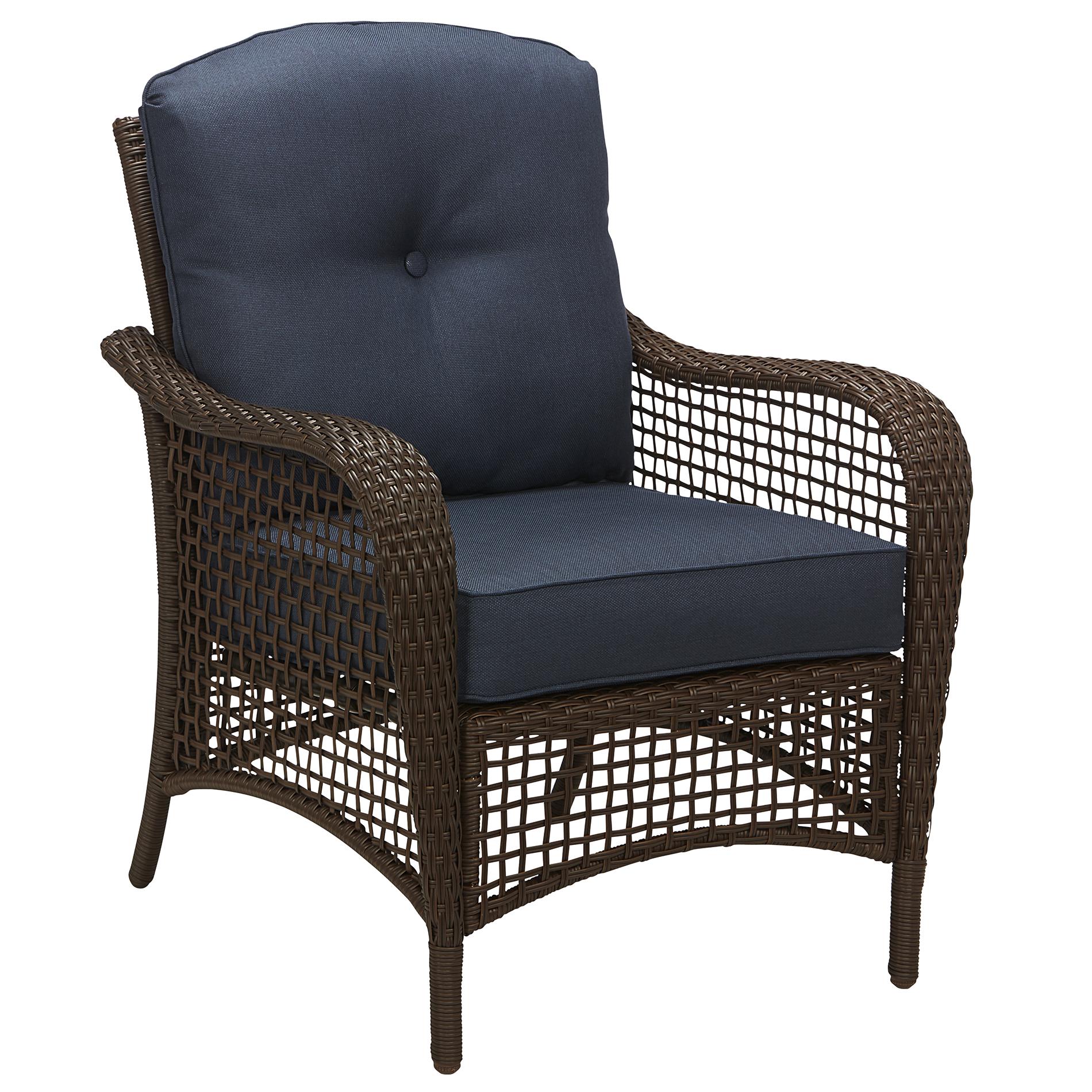 Grand Harbor Prairie Hill Stationary Chair- Blue - Outdoor
