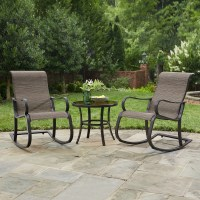 Jaclyn Smith Marion 3 pc Rocker Bistro Set - Outdoor ...