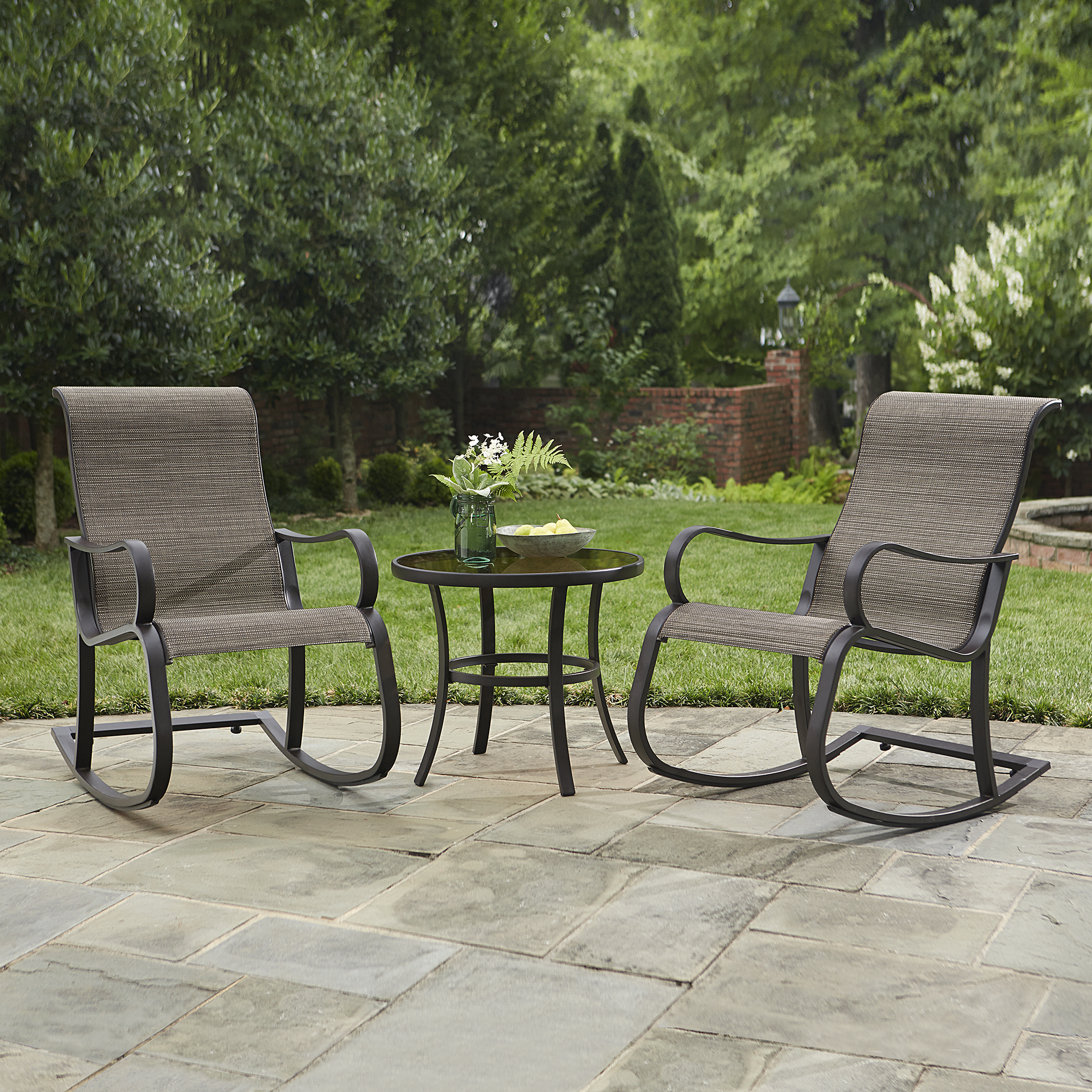 Jaclyn Smith Marion 3 Pc Rocker Bistro Set - Outdoor