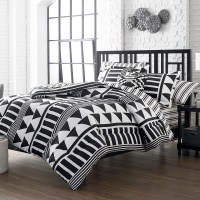 Colormate Twin X-Long Complete Bed Set  Black and White ...