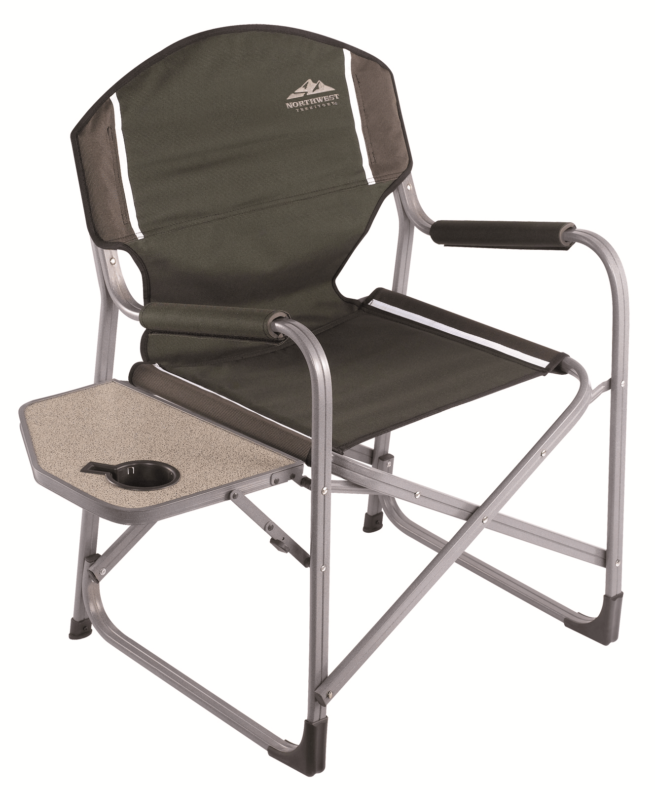 Folding Camp Chair With Side Table Check Out Northwest Territory Director S Chair With Fold Up Side Table Shopyourway