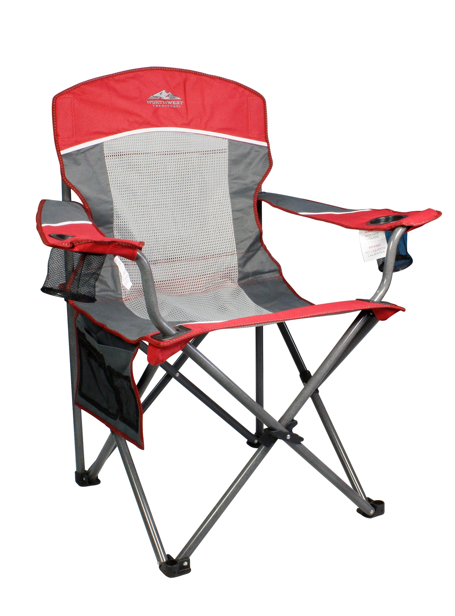 northwest territory chairs seat belt chair camping tables sears big boy xl mesh red gray