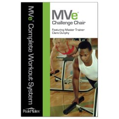 Chair Gym Dvd Set Wooden Bar Stool Chairs Peak Pilates Mve Challenge Workout Shop Your