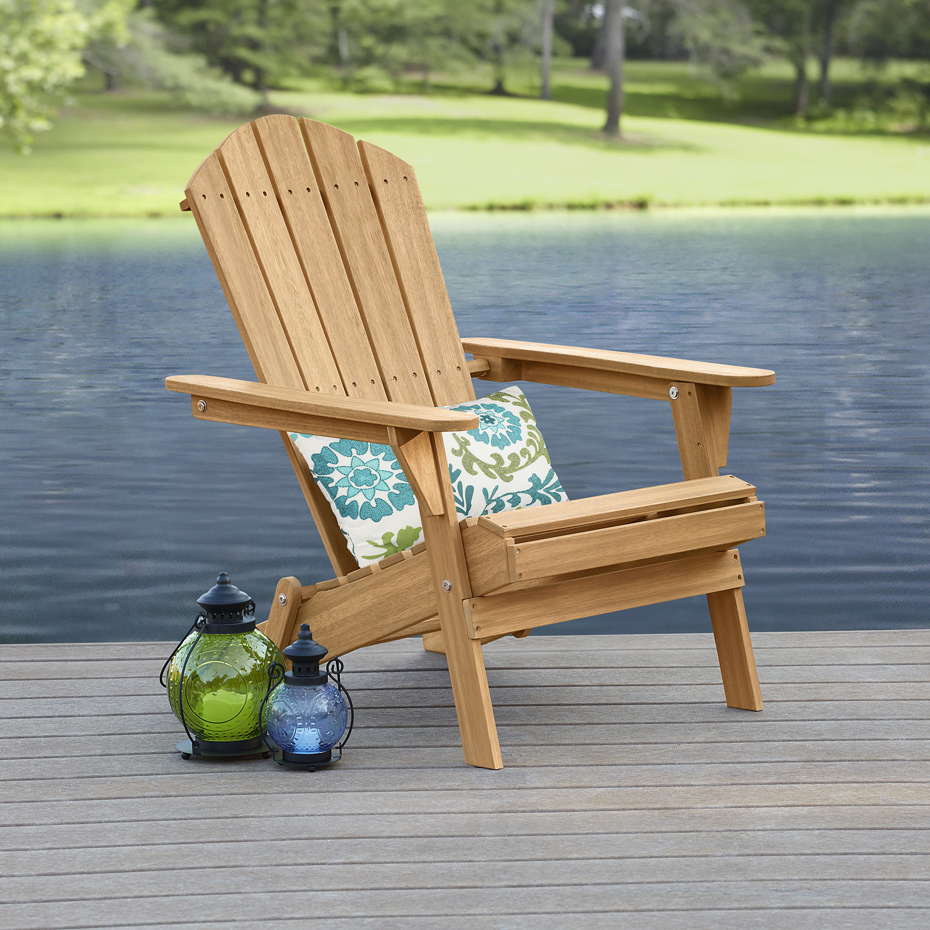 Garden Oasis Adirondack Chair- Natural Limited Availability