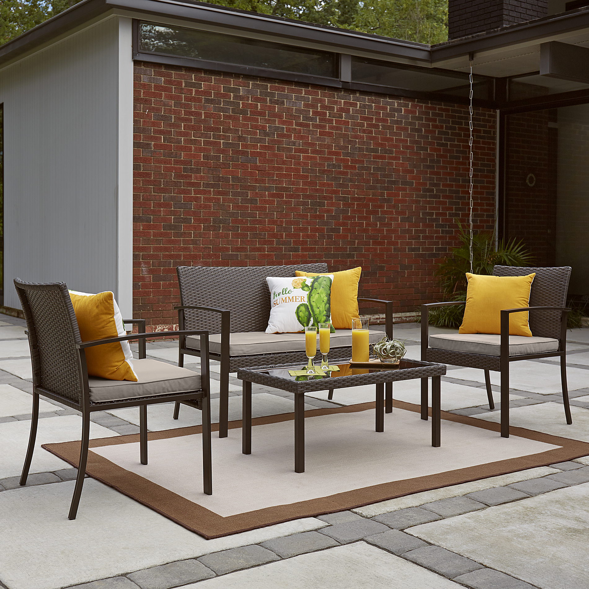 Garden Oasis Phoenix 4pc Seating Set Limited Availability
