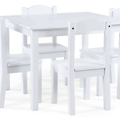Tot Tutors Table And Chairs Winged Back Chair Kids Wood 4 Set White Summit