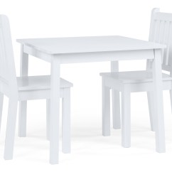 Kids Table And Chair Set Kmart Shower Walmart Tot Tutors Wood 2 Chairs White Daylight