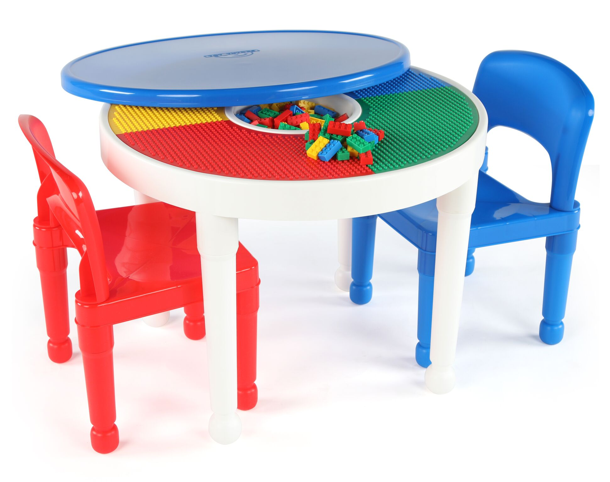 tot tutors table and chairs inglesina chair kids plastic 2 in 1 lego duplo compatible round