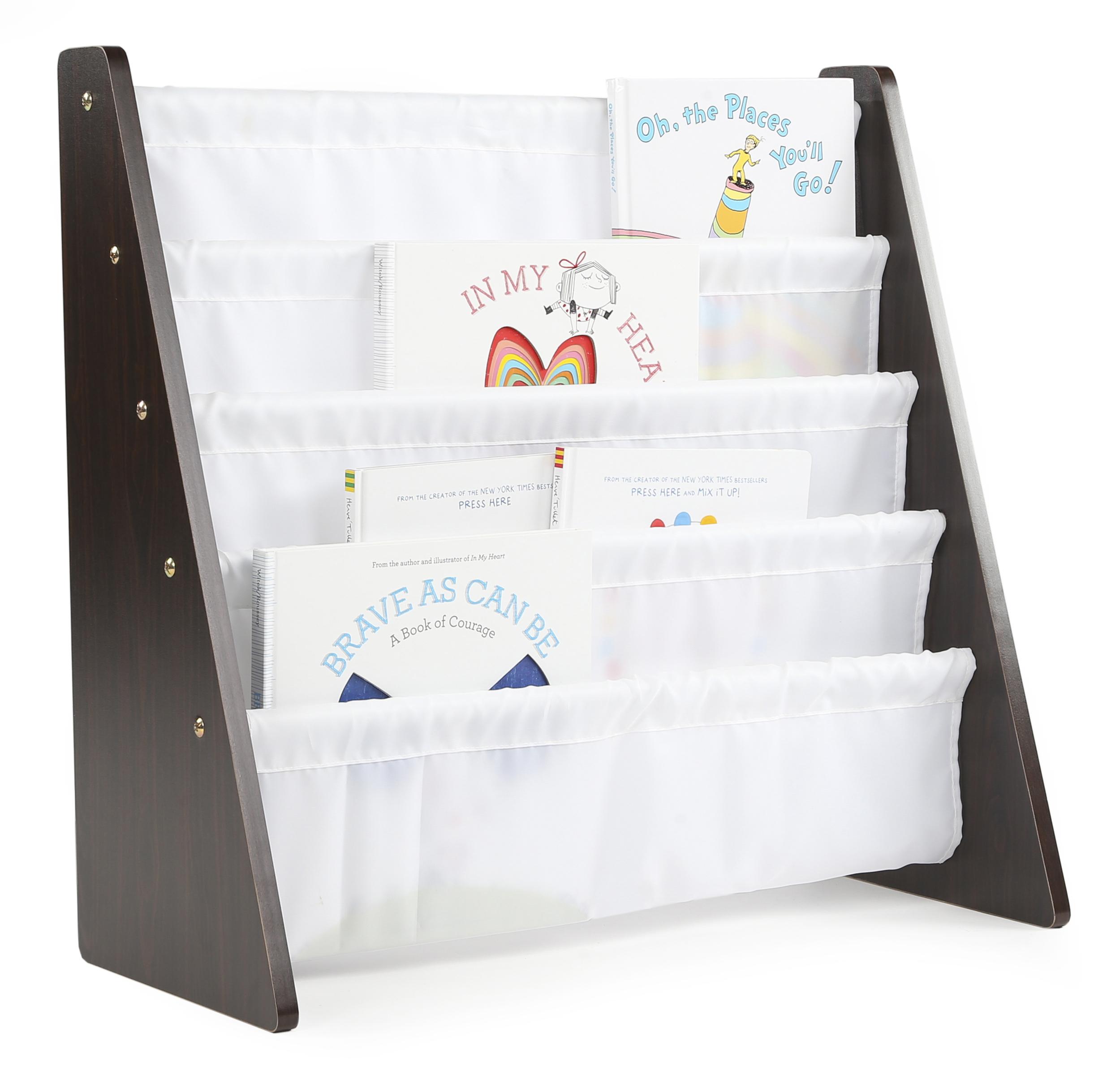 Tot Tutors Kids Book Rack Storage Bookshelf Espresso White