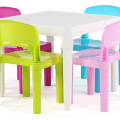Kids Table And Chair Set Kmart Used Barber Chairs For Sale Tot Tutors Plastic 4 Bright Colors