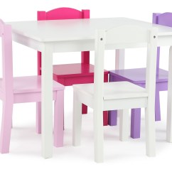 Kids Table And Chair Set Kmart Rp Module Tot Tutors Wood 4 Chairs White Pink