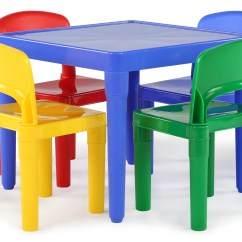Kmart Desk Chair Sit To Stand Lift Tot Tutors Kids Plastic Table And 4 Chairs Set, Primary Colors - Toys & Games Outdoor ...