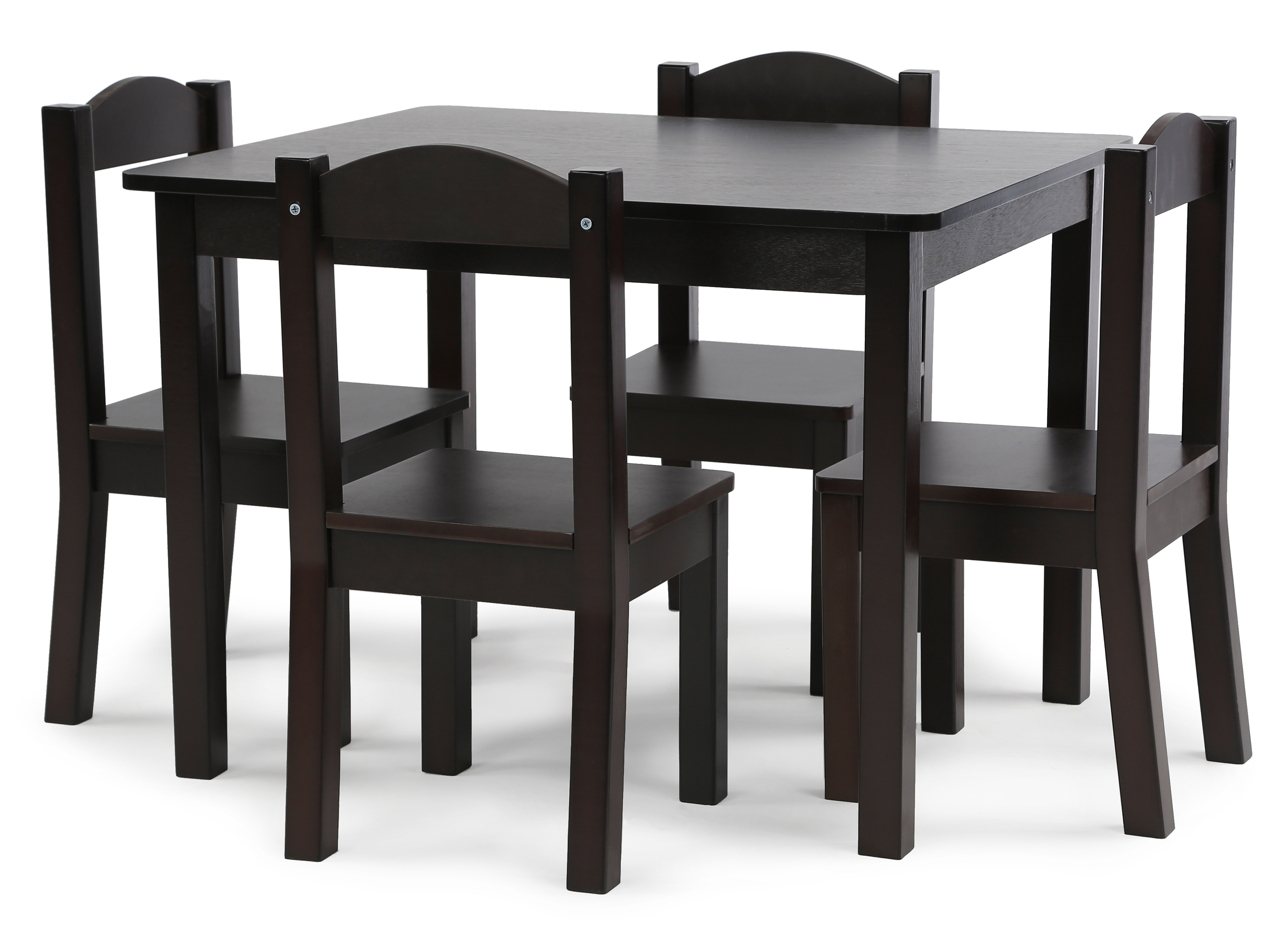 Kids Wood Table And Chairs Tot Tutors Kids Wood Table And 4 Chairs Set Espresso