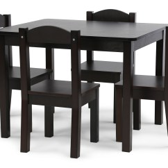 Toddler Wood Chair And Table Mac Motion Chairs Tot Tutors Kids 4 Set Espresso