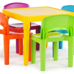 Kids Table And Chair Set Kmart White Ladder Back Chairs Tot Tutors Plastic 4 Vibrant Colors