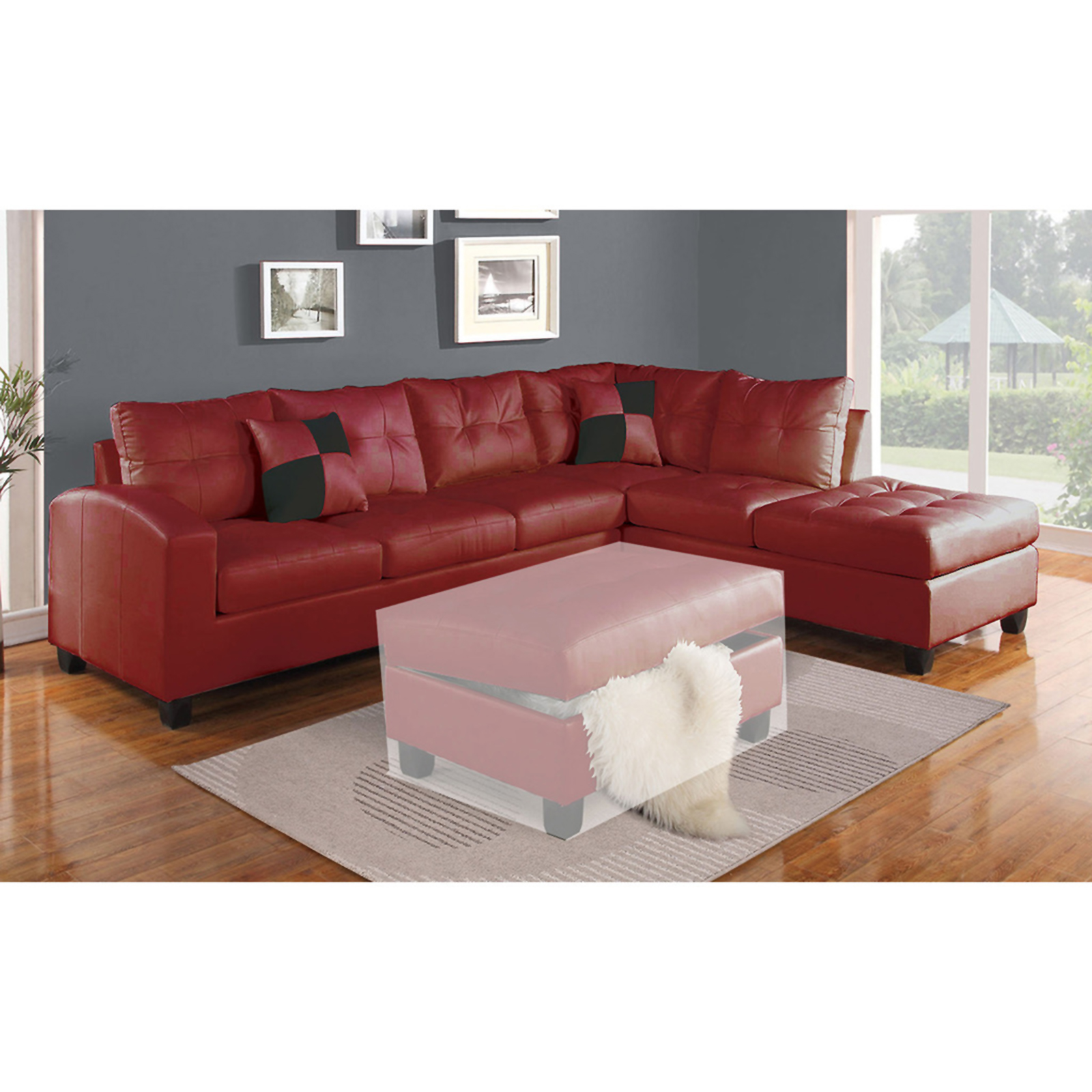 red sectional sofa leather free shipping talentneeds