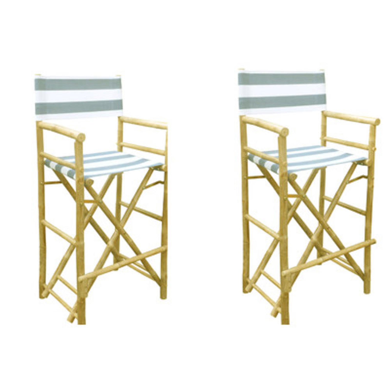 striped directors chairs dining chair slip cover covers buyers choice phat tommy foldable tall in blue stripe set of 2