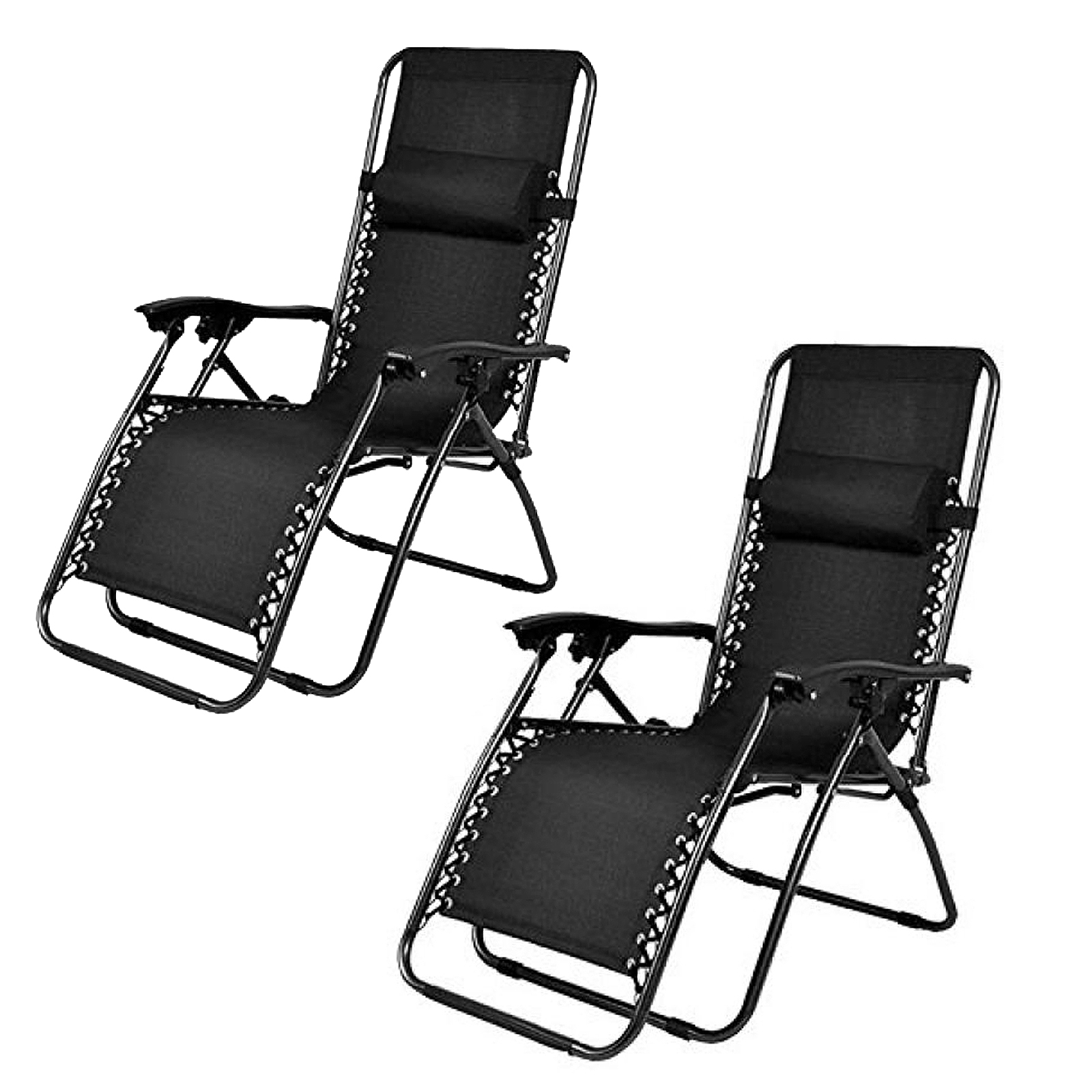 zero gravity outdoor chairs glider chair for nursery caravan canopy 2pc set sears marketplace steel black