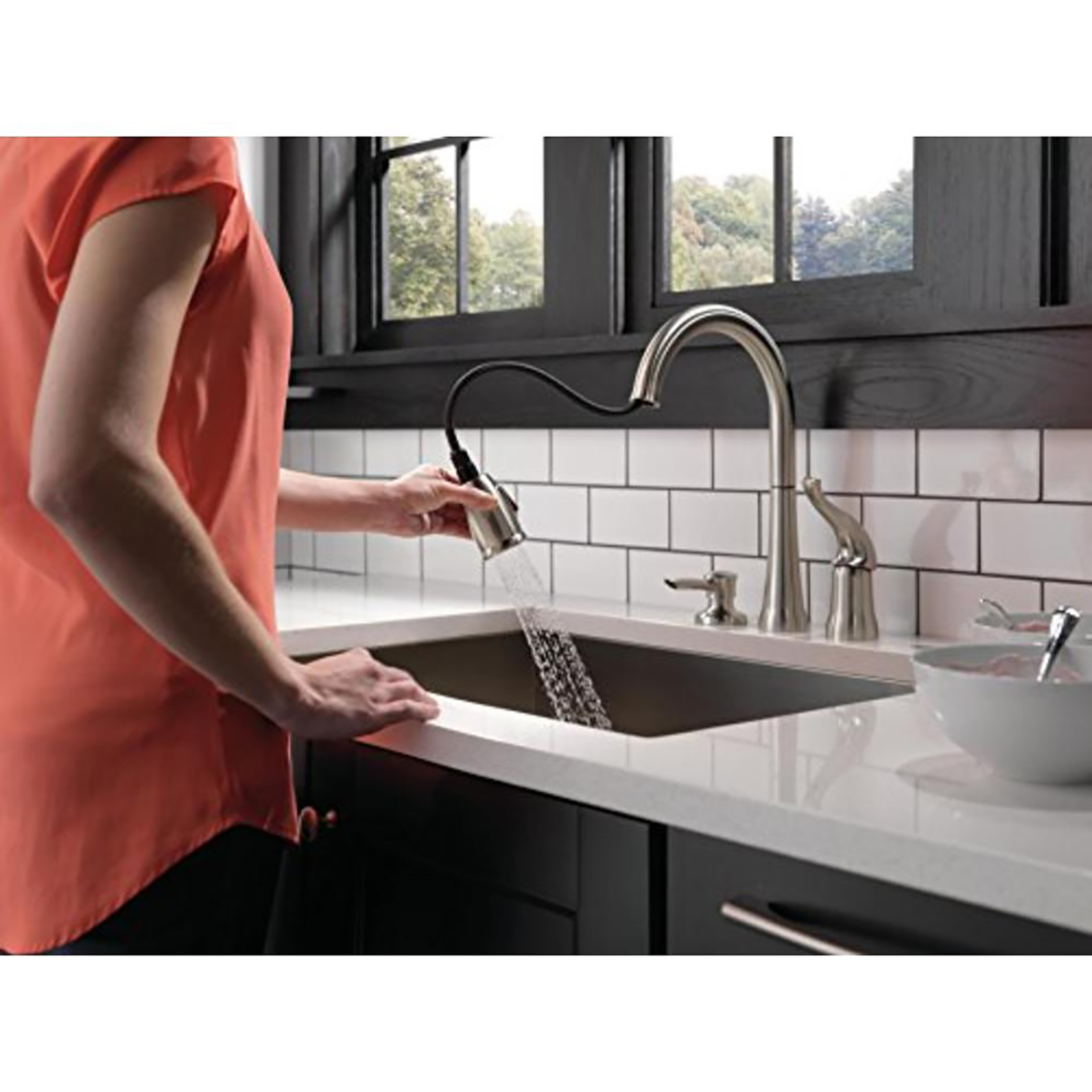 single handle kitchen faucets sears