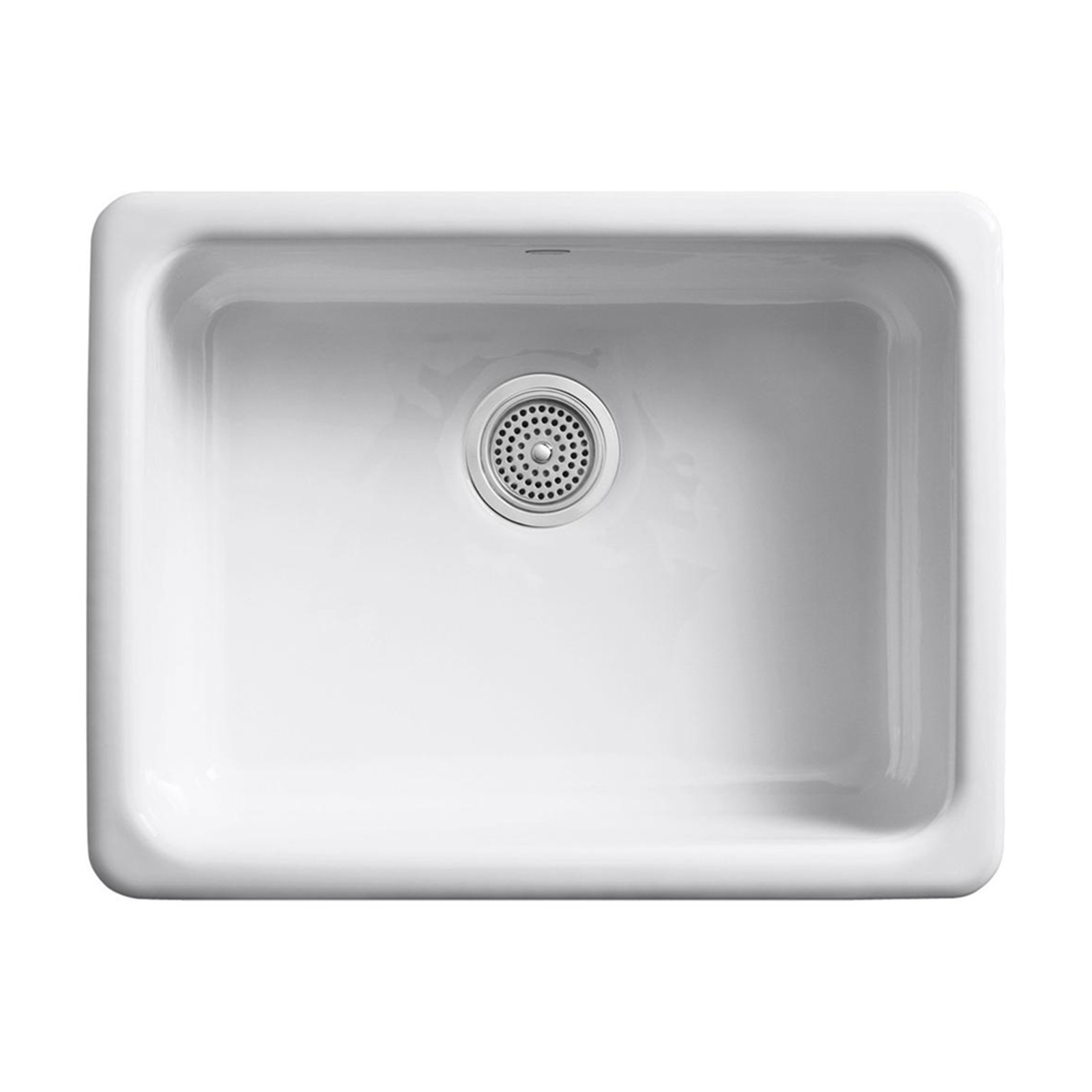single bowl cast iron kitchen sink how much to remodel a sinks sears kohler k 6585 0 tones self rimming undercounter