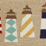 Lighthouses Natural 20 X 30 Indoor Outdoor Rug