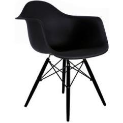 Eiffel Chair Wood Legs Low Lawn Set Of Two 2 Black Eames Replica Armchair Homelala