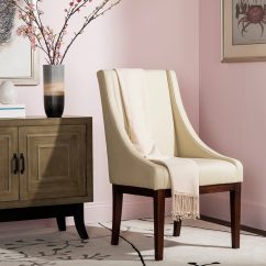 Safavieh Dining Chairs Metal Legs Uk Arms Sears Mercer Collection Mario Leather Arm Chair Cream