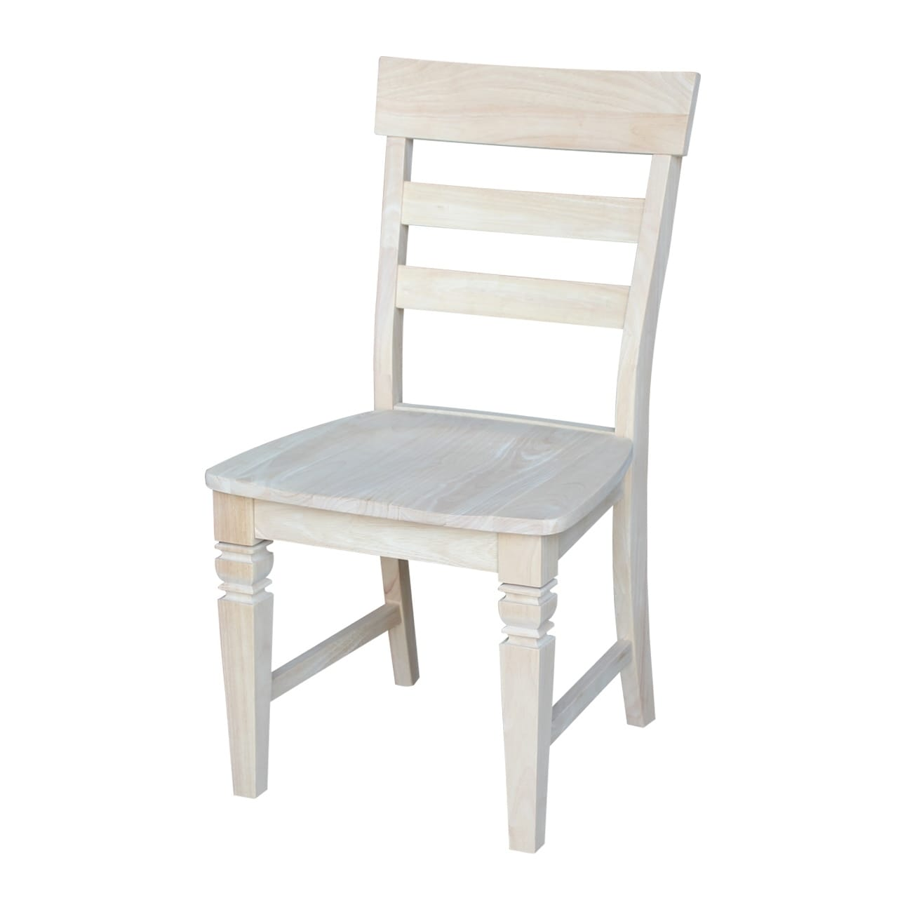 unfinished wooden chairs cheap where to buy dining room wood international concepts c 19p java chair with solid seat