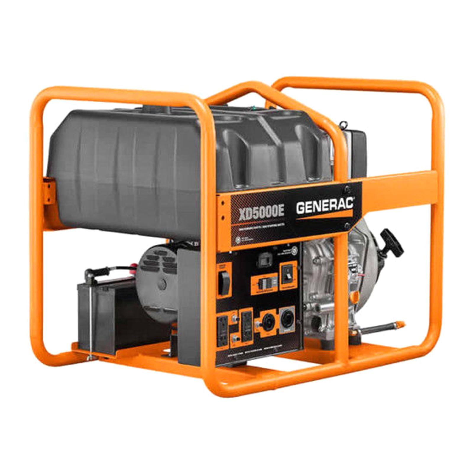 generac 6864 xd5000e 5000w electric start diesel portable generator [ 1600 x 1600 Pixel ]