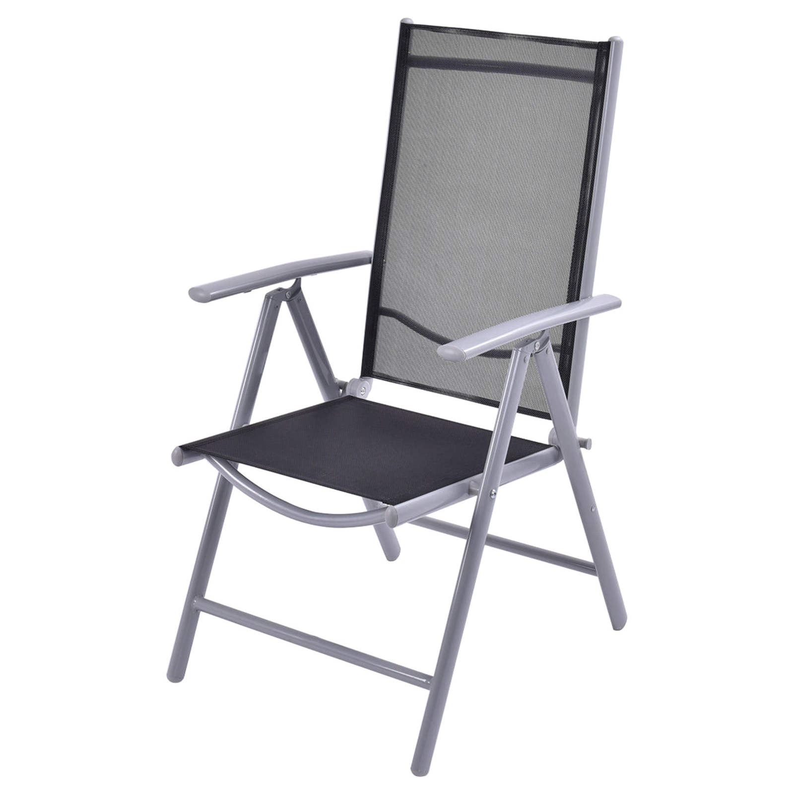 Aluminum Folding Chair Goplus 7 Position 2pc Aluminum Folding Chair Set Sears Marketplace