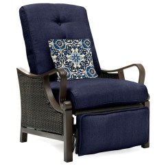 Recliner Lawn Chairs Folding Game Of Thrones Chair Patio Outdoor Recliners Kmart Hanover Ventura Luxury Navy Blue