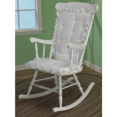 2 Pc Rocking Chair Cushions Black Spindle Back Chairs Baby Doll Lucky Game 2pc Ruffled Cushion Sears Marketplace Eyelet Seat White
