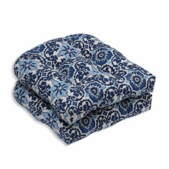 Wicker Chair Cushions With Ties Wood Waiting Room Chairs Pillow Perfect Woodblock Prism Seat Cushion Set Sears