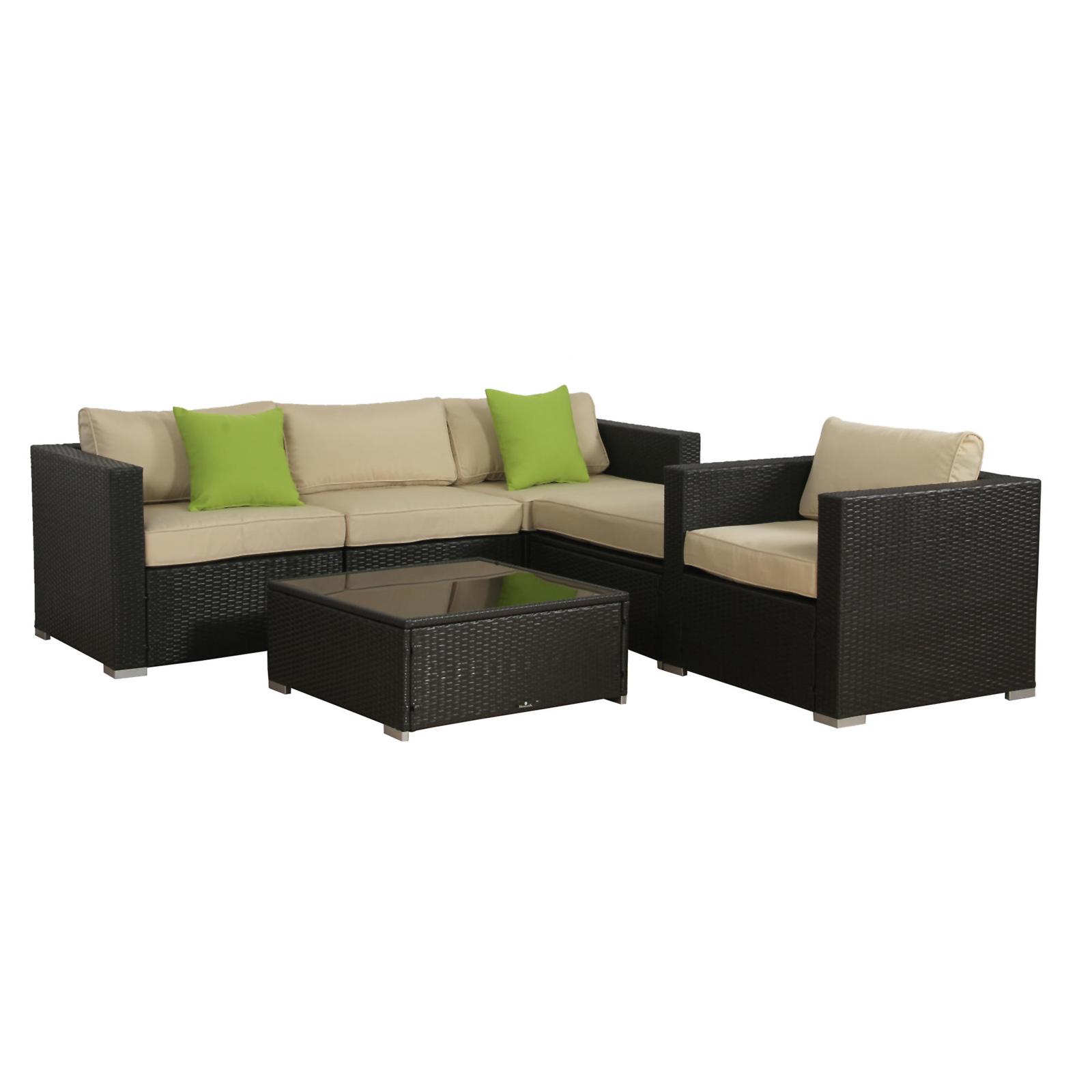 Broyerk 6pc. Outdoor Rattan Wicker Furniture Set - Sears