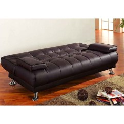 Coaster Futon Sofa Bed With Removable Armrests Review Sectional Sofas Amazon 76 5 X 36 Convertible Sears Marketplace Brown