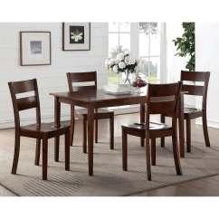 Oak Kitchen Table Sets Bed Bath And Beyond Mat Dining Sears K B Furniture Co Inc Kb D113 C Dark Brown Wood