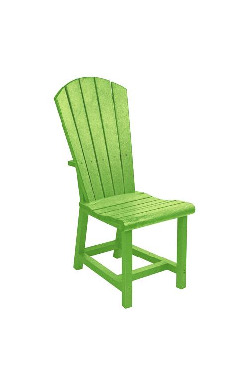 adirondack style dining chairs bath assist chair c r plastic products generations side cr kiwi lime