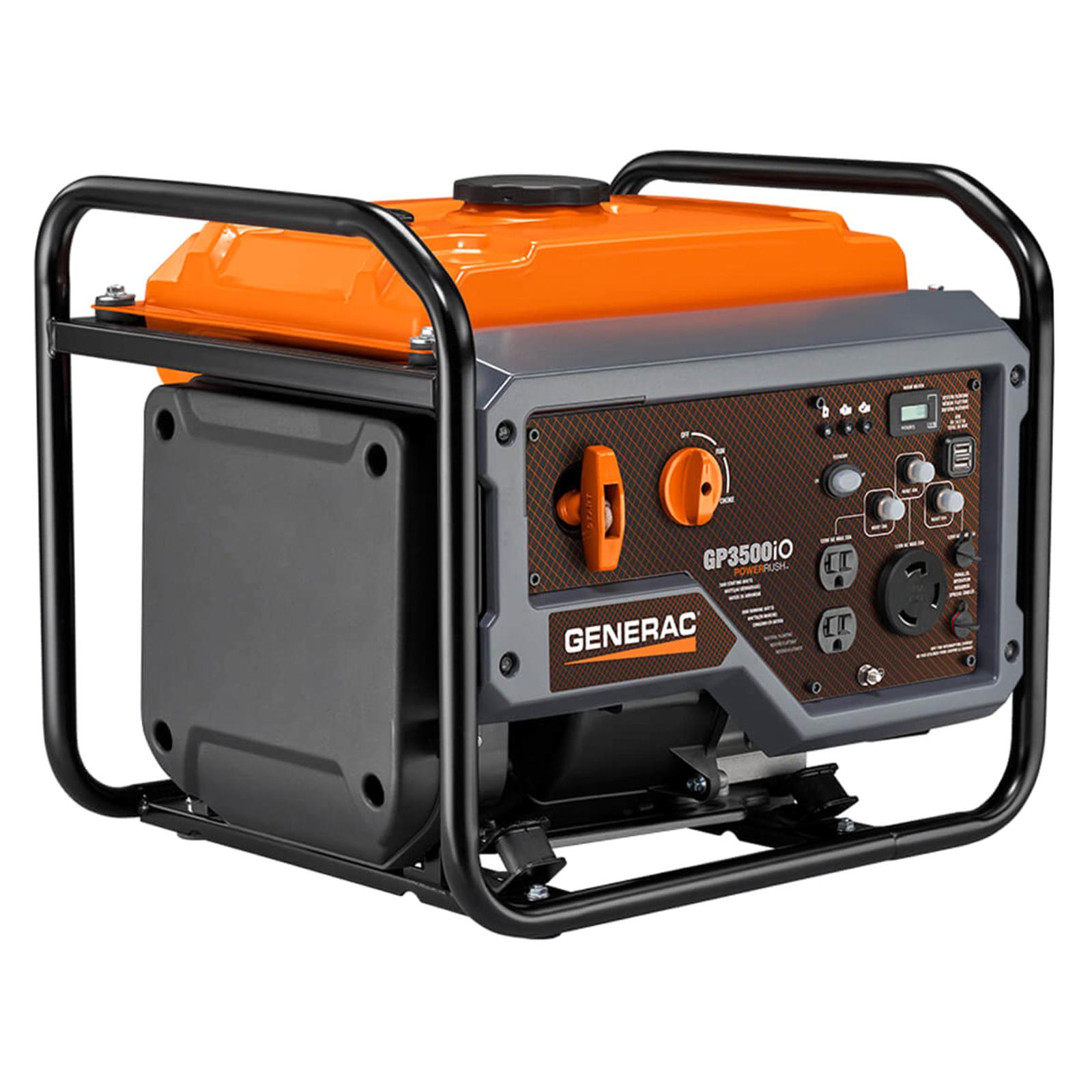 generac 7128 gp series 3500io 3500w portable generator with economy mode [ 1600 x 1600 Pixel ]