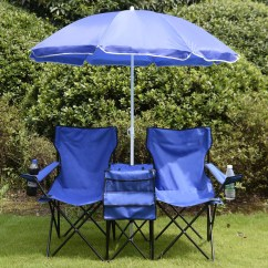 Folding Chair Picnic Table Swivel Plush Tables Kmart Costway Goplus Portable Double W Umbrella Cooler Beach Camping