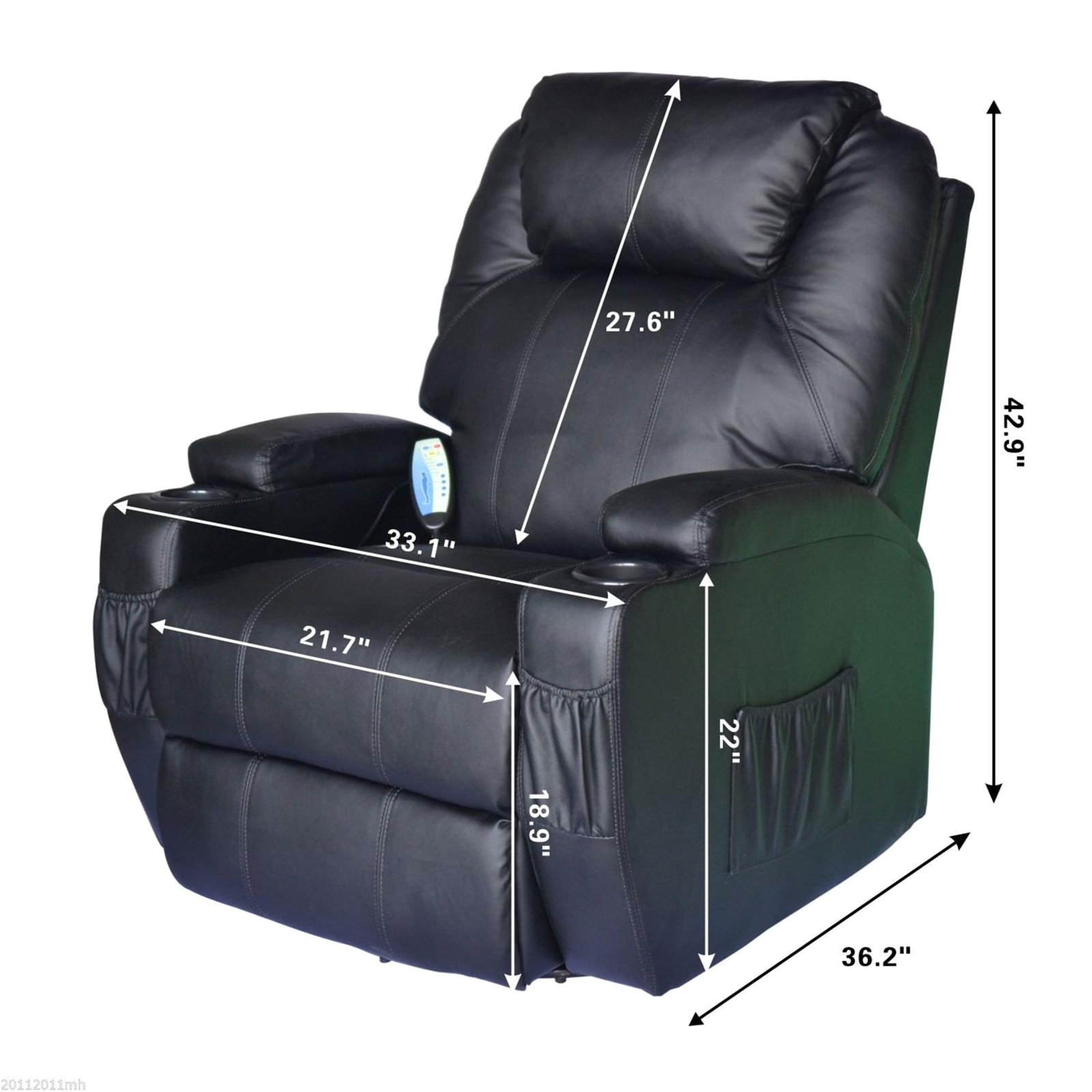 sears recliner chairs lazy boy rocker swivel homcom 360 massage chair marketplace 34 with remote black 1