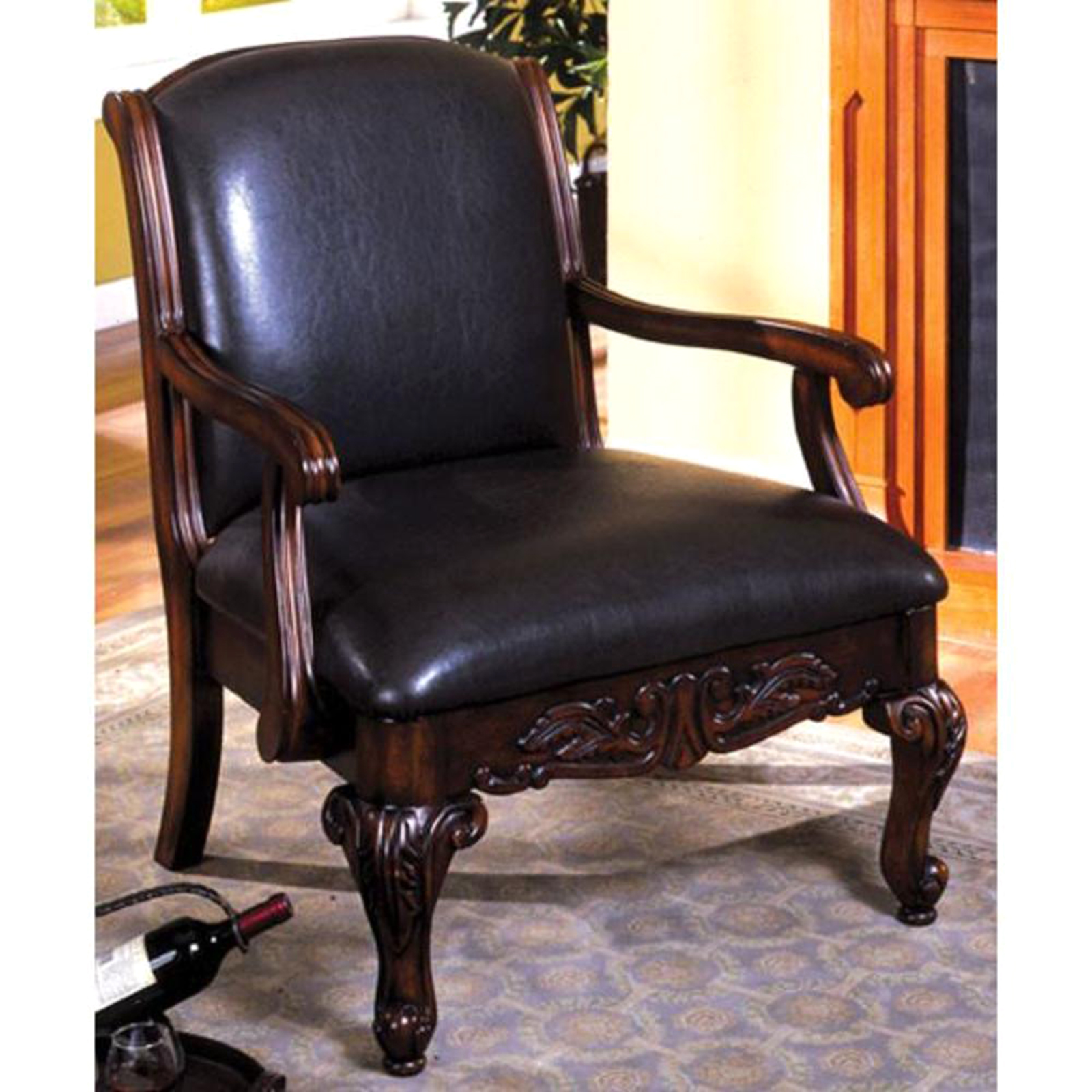 Antique Accent Chairs Furniture Of America Classic Antique Accent Chair Sears Marketplace